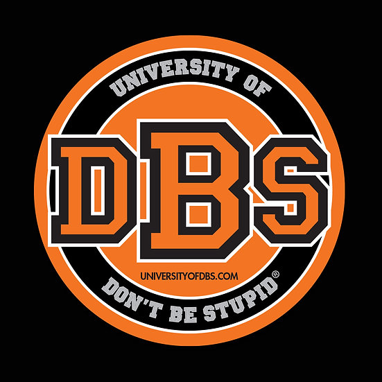 "University of Don't Be Stupid - 3"" Pumpkin Decal"