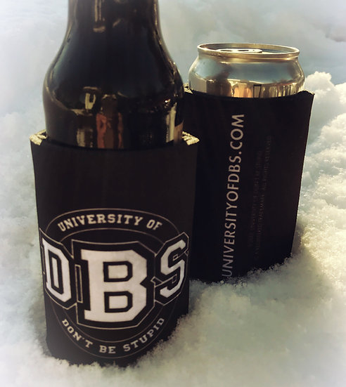 University of DBS 12oz. Bottle / Can Cooler - Black