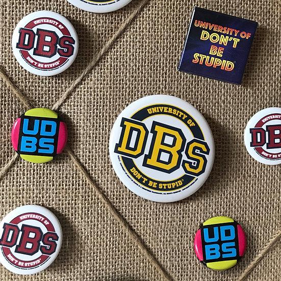 University of DBS Pinset - Set of 4