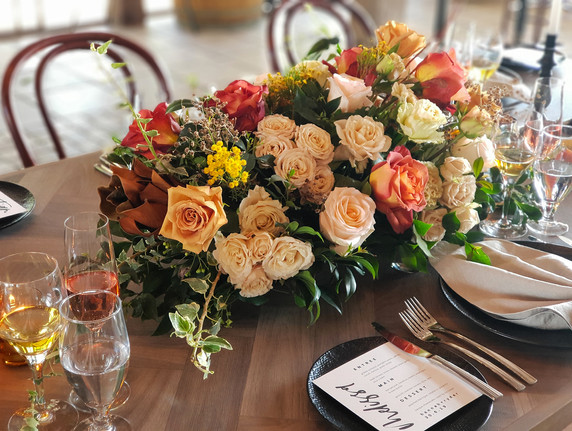 Reception table flowers