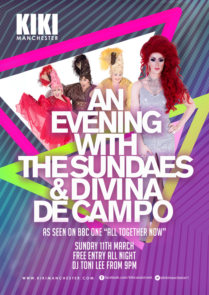 The Sundaes and Divina De Campo in Manchester