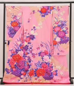 Class A 13 粉紅色牡丹引振袖
