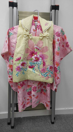 an·an女兒粉紅撫子花紋被布和服(三歲用)