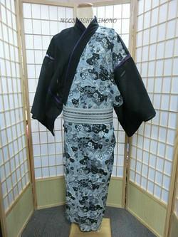 雅結—櫻刺繡和柄男裝浴衣