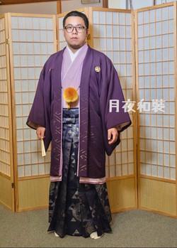 紫色金菱十二單風紋付