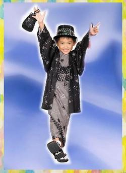男兒天馬星空小紋和服(不連帽)(9-10歲用)