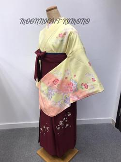 淡黃色櫻花二尺袖