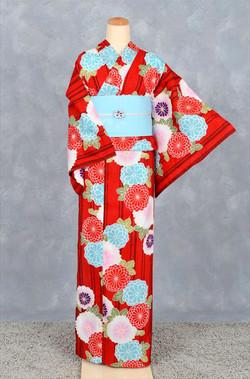 紅色菊花高級浴衣by大島優子