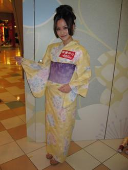 黃色紫陽花浴衣