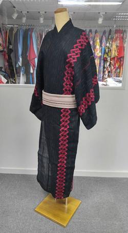 歌舞伎紋樣男裝浴衣