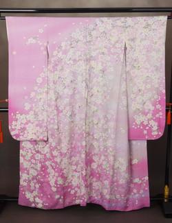CLASS A 粉紫垂櫻正絹振袖
