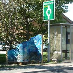 22)Aberystwyth  panel and bus stop.JPG