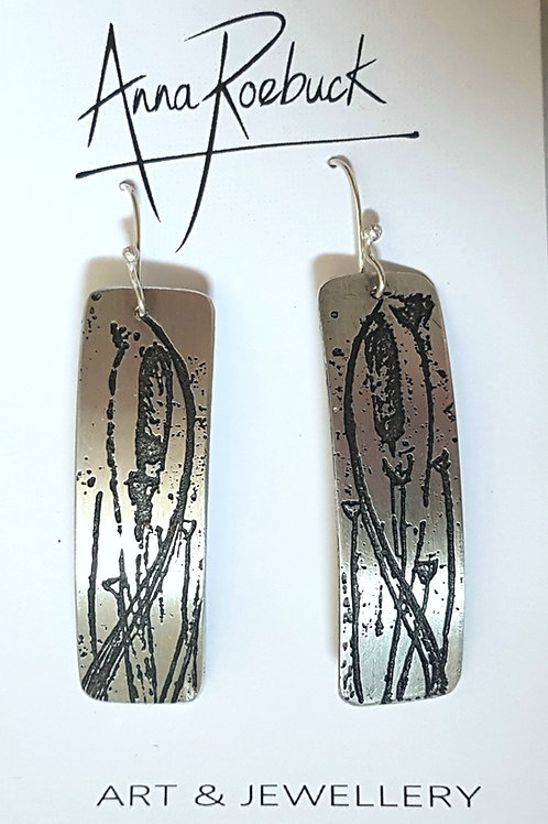 Out of Line Rectangle Earrings