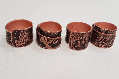 Copper and Brass Rings