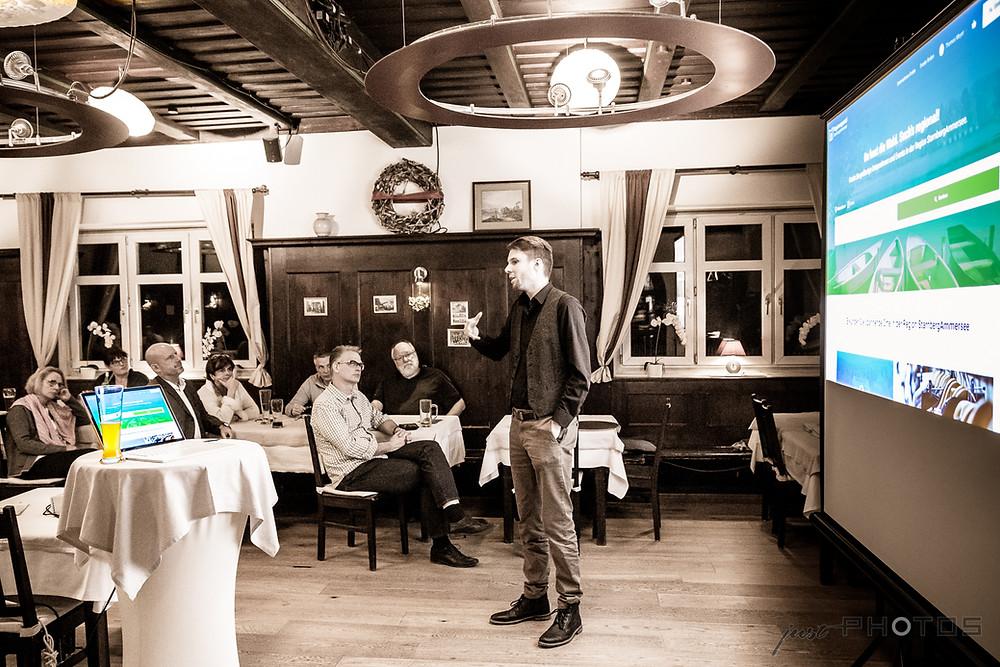Vortrag Regionenportal Starnberg-Ammersee in der Kraillinger Brauerei