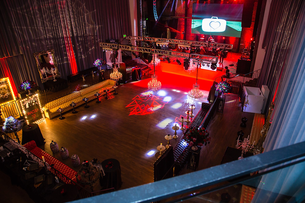 Full shot of the Dracula dance floor