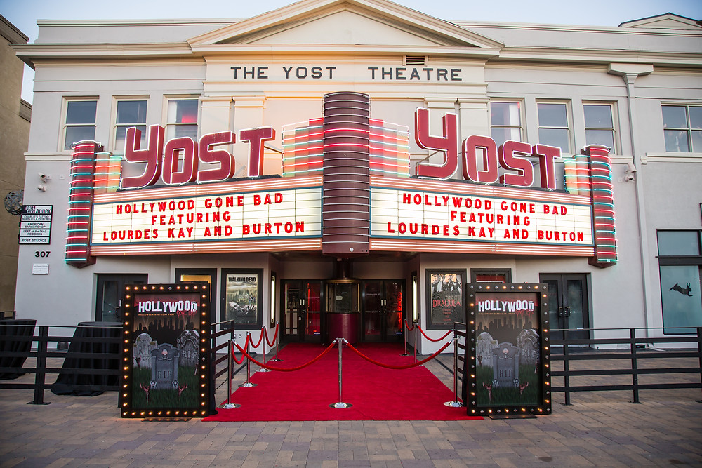 Outside view of The Yost Theatre