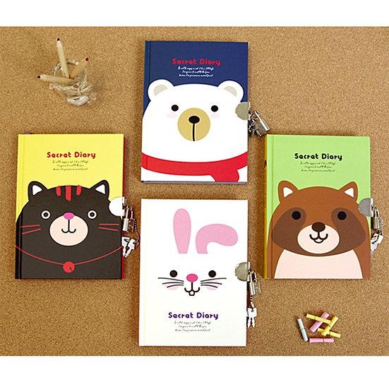 Animal Lock Secret Diary