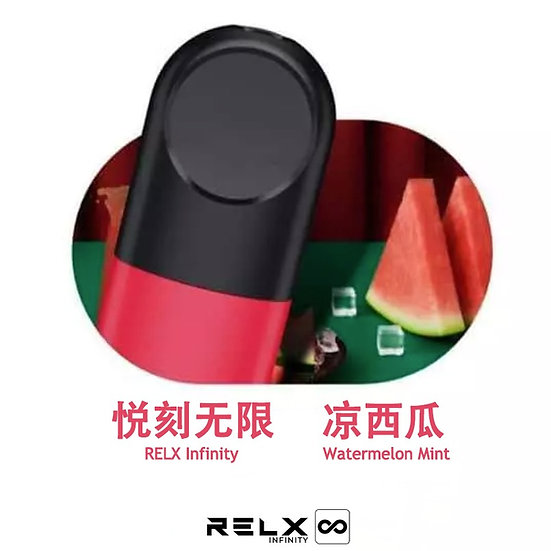 RELX INFINITY REPLACEMENT PODS - WATERMELON MINT