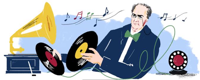 Google Doodle Emil Berliner Barbara Ott Illustration