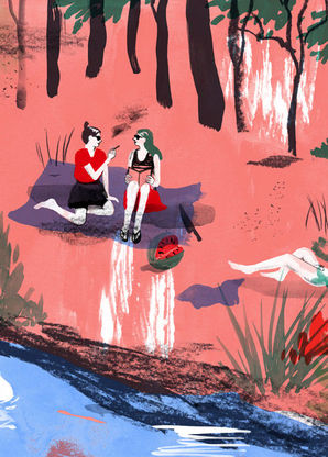 Illustration Barbara Ott Meet Me By The Lake