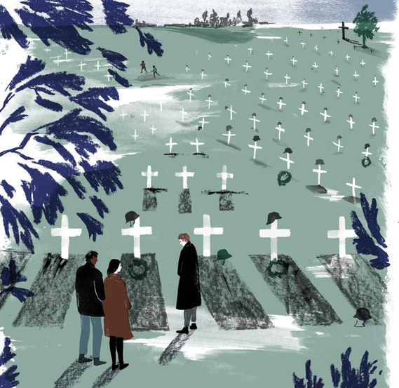Psychologie Heute Barbara Ott Illustration Cemetery