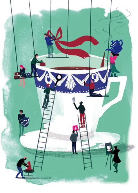 Illustration Barbara Ott KPM Berlin