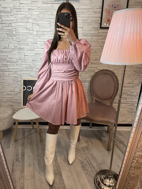 Robe Camille rose