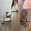 Thumbnail: Robe longue Feriel beige à ceinture