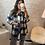 Thumbnail: Veste Olga à carreaux bleu