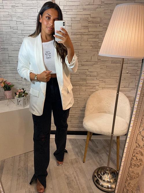 Veste blazer ouverte blanche