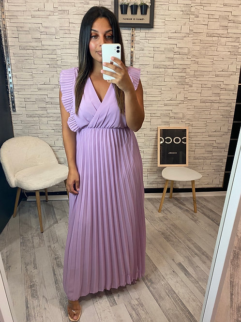 Robe Milena violet pâle