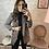Thumbnail: Veste Blazer pied de poulet marron et noir