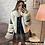 Thumbnail: Manteau simili cuir et fourrure Élodie noire