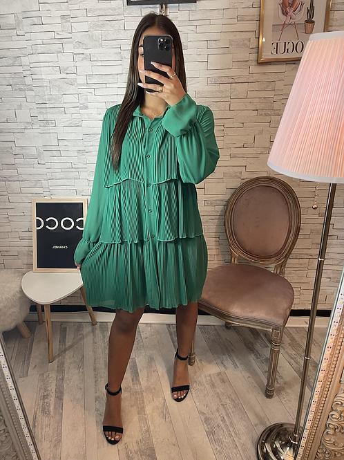Robe Celina vert