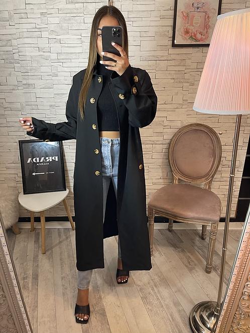 Veste longue Alba noir