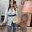 Thumbnail: Chemisier Brenda blanc à rayures avec ceinture