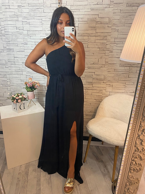 Robe Anastasia asymétrique noir