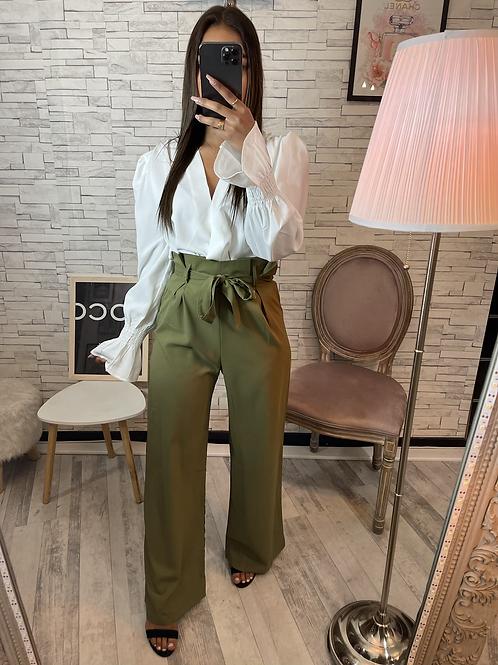 Pantalon Irina kaki