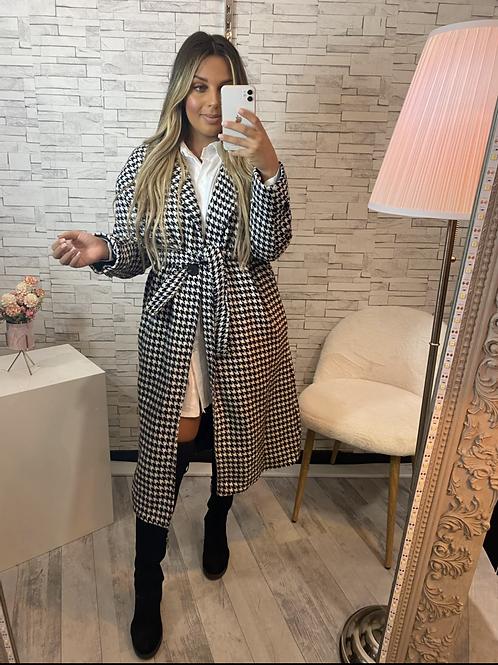 Manteau à carreaux Miranda