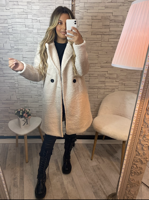 Manteau sofia beige clair