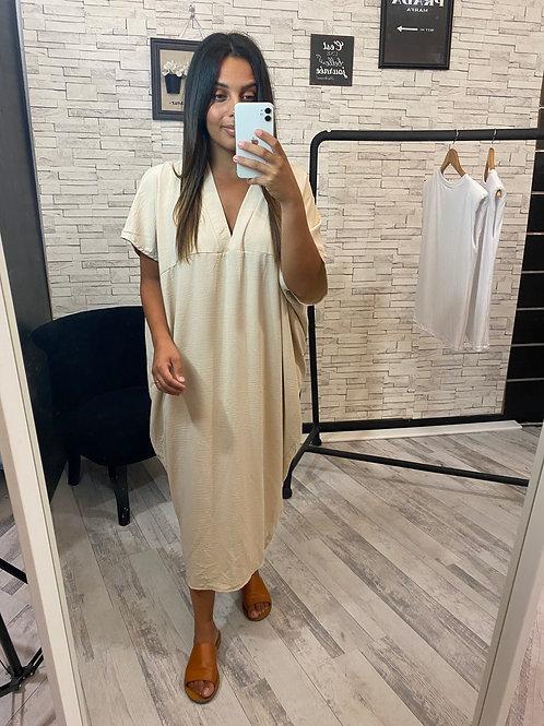Robe Aïcha beige