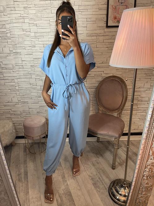 Combinaison pantalon Olga bleu