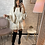 Thumbnail: Robe Polly beige avec ceinture