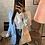 Thumbnail: Veste bi color Helena bleu/blanc