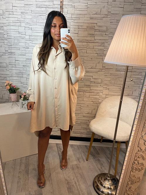 Robe chemise Manon beige