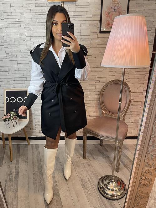 Robe chemise Irina noire