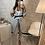 Thumbnail: Ensemble Tailleur Emma blanc à ceinture