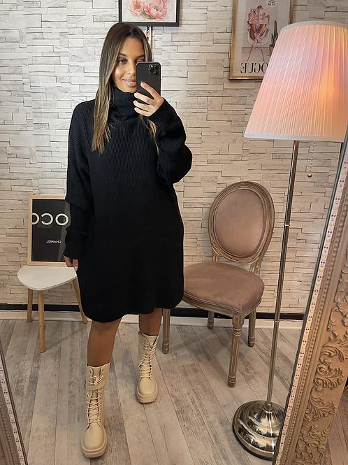 Robe pull Fiona noire