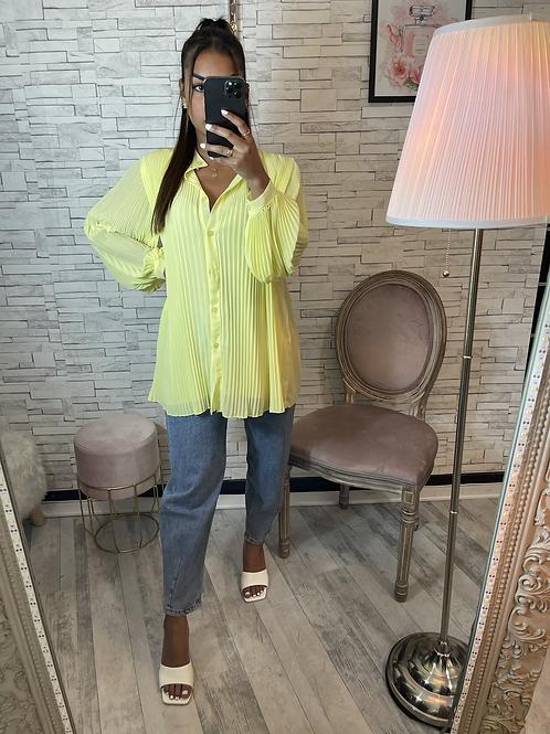 Tunique plissée jaune